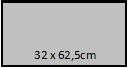 32 x 62,5 cm
