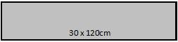 30 x 120 cm