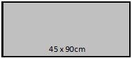 45 x 90cm