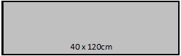 40 x 120cm
